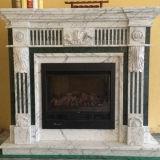 Marfil 크림 베이지색 대리석 자연적인 새겨진 돌 벽난로