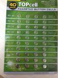 1.5V 357/Lr44/AG13 alkalische Tasten-Zellen-Batterie