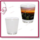 Sublimation Coated Glass Wine Mug mit Custom Design