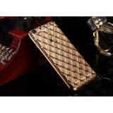 iPhone 5/6s Samsung S4/S5/S6/S6 Edge를 위한 새로운 Arrival Rhombus Shape Lambskin Case Eletroplate TPU Case Mobile Phone Case
