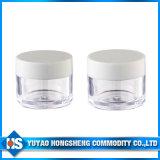 mini vaso cosmetico della plastica colorato 10ml della crema di fronte