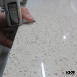 Laje preta de quartzo de Kkr para a parte superior do trabalho da cozinha (20170331)