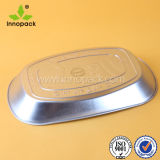 Дешевым круглым Non-Slip напечатанный лаком поднос олова металла для еды/пива/бутылки