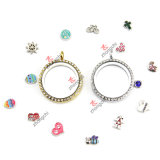 Necklace Gifts (FL150D)를 위한 30mm Multicolor Living Magnets Crystal Glass Floating Lockets
