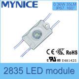 luz do módulo do diodo emissor de luz da injeção de 2835SMD IP67 DC12V com lente