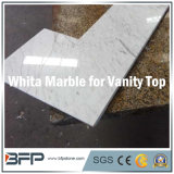 Partes superiores de mármore brancas naturais da vaidade para o banheiro na casa/hotel