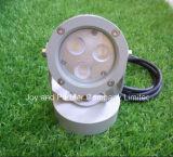 12V LED resistente al agua las luces del jardín de 3W con base redonda (JP832031)