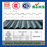 Cor -Revestido ondulado Aço Galvanizado em Bobina / Sheet (Yx10-125-875, ral)