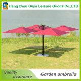 parapluies de luxe en porte-à-faux carrés de patio de 3X3m