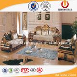 Sofá de madeira da tela da entrada do hotel personalizado para o apartamento da casa de campo (UL-Y616)