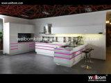 Cabinet 2016 de cuisine à haute brillance de laque de forces de défense principale de Welbom