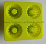 Moulage de fondant de silicones de roue de pignon de 4 cavités pour le chocolat Sc45