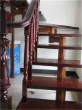 Retro toda la escalera de acero Titanium de madera sólida