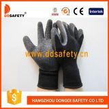 Werkende Handschoenen van de Veiligheid van de Voering van de Deklaag van het Latex van Ddsafety 2017 de Zwarte Handschoen Geborstelde