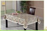 PVC impresso gravado e Tablecloth do ouro com revestimento protetor da flanela (TJG007)