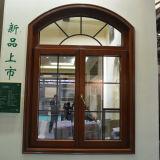 Алюминиевое деревянное окно Casement Kz205 с окном Multi свода замка фикчированным