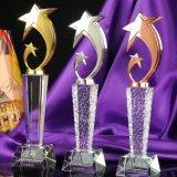 Premi all'ingrosso di vetro, trofeo di cristallo di inizio dei regali di affari del trofeo