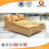 Basi di sofà adulte esterne di giorno del nuovo di disegno del tempo della prova rattan esterno del patio con il baldacchino (UL-T06)