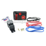 tecla +Relay do começo do motor do Toggle do painel do carbono do interruptor do acionador de partida do interruptor de ignição do carro de competência 12V