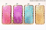A caixa luxuosa do telefone do diamante do chapeamento do Glitter de Bling do ouro para o iPhone positivo do iPhone 7 6 6s mais TPU macio suporta a tampa 5s do SE 5 (XSDD-018)