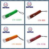 Mini torcia di plastica di Keychain LED delle cellule del tasto (178)