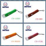 Миниый пластичный факел Keychain СИД клетки кнопки (178)