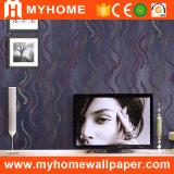 Catalogue neuf de papier peint gravé en relief par PVC du pourpre 2016