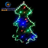 New 4 PCS Green Outline LED Trees Motif Rope Lights