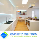 Mobilia bianca degli armadi da cucina di rivestimento della lacca di colore di alta lucentezza di modo (ZY 1079)