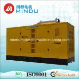 600kVA防音の発電機(GF3)への10kVA