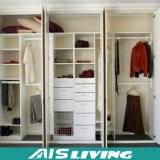 現代デザインMDFの白いラッカーワードローブの戸棚のキャビネット(AIS-W151)