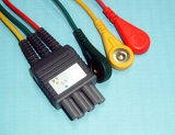 De Kabel van Colin bp-306/Bp88 6pin 3 Leadwireset ECG