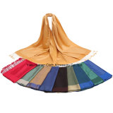 Neues Style Soft Acrylic Double Side Scarf mit Tassel
