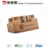 Calendrier de bureau perpétuel promotionnel en bambou