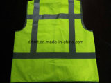 Standard giallo 100%Polyester di influenza Y della maglia di sicurezza