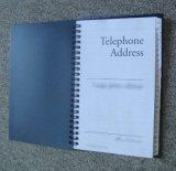 livre spiralé de note d'affaires pour l'usage promotionnel