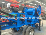 Jaw mobile Crusher Plant per Mining con Hopper