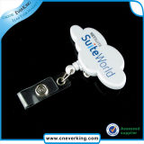 China Factory Price Carabiner Plastic Badge Reel mit Lighter
