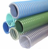PVCプラスチック螺線形によって補強される吸引の粉の庭の配水管のホース