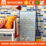 Papel de parede colorido do papel de parede 3D do tijolo da decoração interior