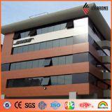 Painel composto de alumínio do teste padrão de madeira do revestimento de PVDF para o uso externo