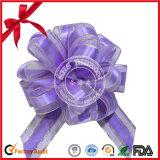 Color clasificado POM-POM tirar en arco con la impresión para la decoración de Navidad