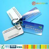 금속 열쇠 고리를 가진 13.56MHz ISO14443A NTAG213 PVC NFC 중요한 꼬리표