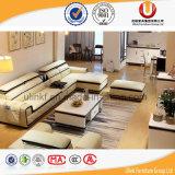 Sofà d'angolo di cuoio moderno, L moderna sofà di figura, sofà di cuoio di Foshan (UL-B666)