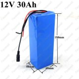 batería recargable del Li-ion 12V del paquete de la batería de 12V 30ah para la cámara de reserva del CCTV de la batería de la lámpara de xenón de la computadora portátil de la herramienta eléctrica 250W 12V