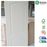 Porte blanche moderne d'amorce de porte moulée par HDF de modèle