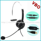 Nuovo USB Headset della call center di Headband Style con Noise Cancelling Microphone