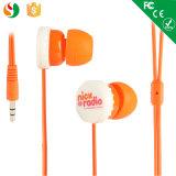 Bestes fertigen verdrahteten Stereokopfhörer-Handy-Großverkauf-Förderung-Kopfhörer kundenspezifisch an