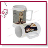 새로운! ! ! Golden Rim를 가진 22oz Sublimation Beer Mugs