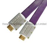 Goud van de hoge snelheid plateerde 20m de Vlakke Kabel van het Metaal HDMI